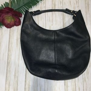 HOBO International PEBBLED LEATHER Bag BLACK. Hobo